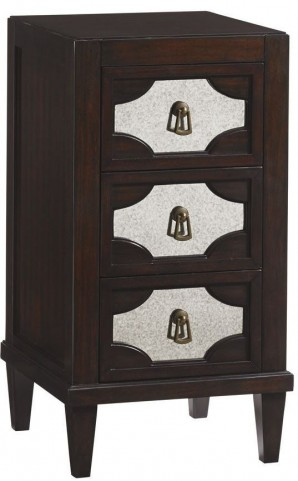 Kensington Place Lucerne Mirrored Nightstand