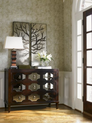 Kensington Place Winslow Mirrored Hall Chest