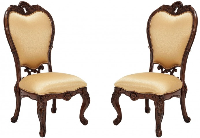 Palais Royale Fabric Side Chair Set of 2