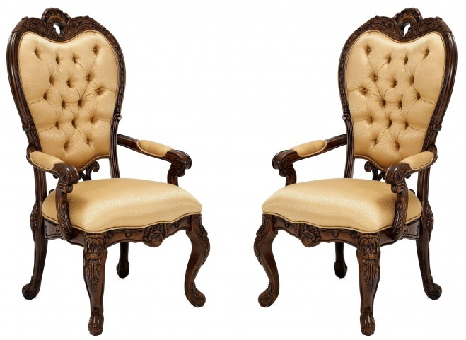 Palais Royale Fabric Arm Chair Set of 2