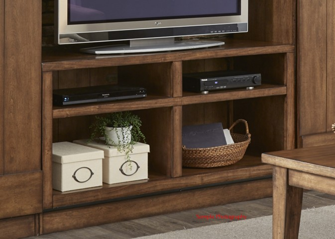 LancasterII Antique Brown Entertainment TV Stand