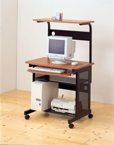 Walnut/Black Computer Workstation 7121