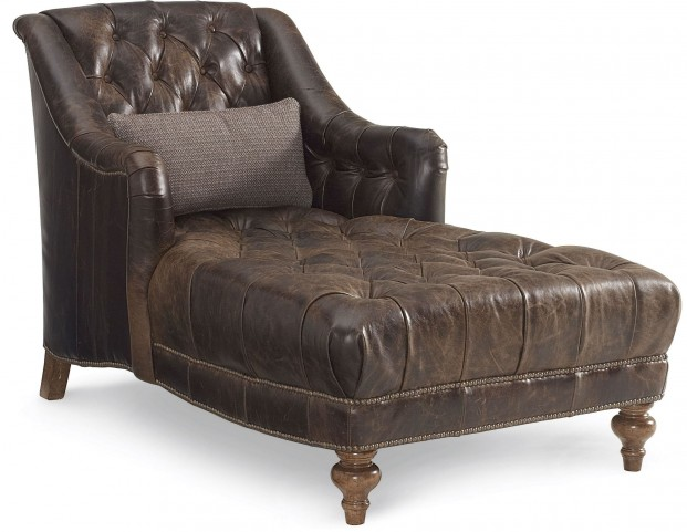 The Foundry Upholstered Miller Leather Chaise