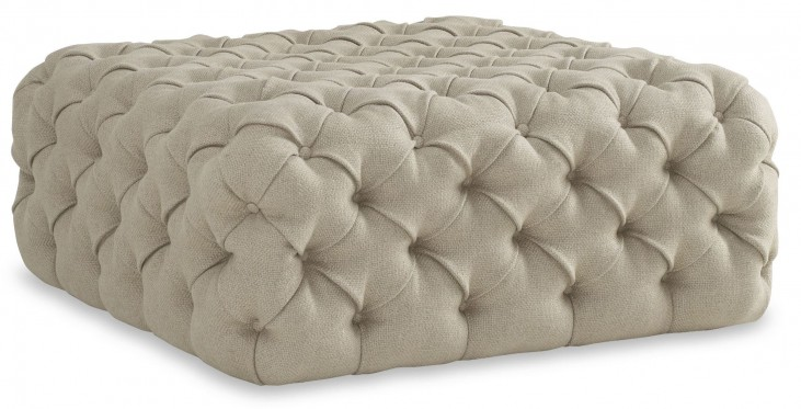 The Foundry Upholstered Banks Tufted Ottoman