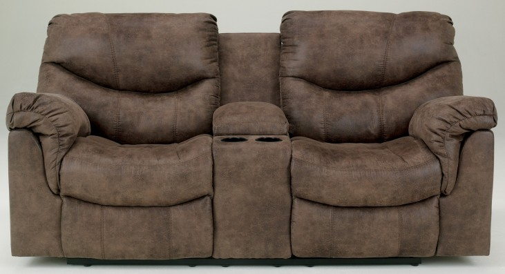 Alzena Double Reclining Loveseat with Console