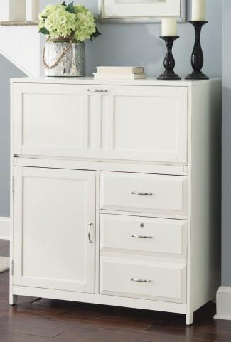 Hampton Bay White Computer Cabinet