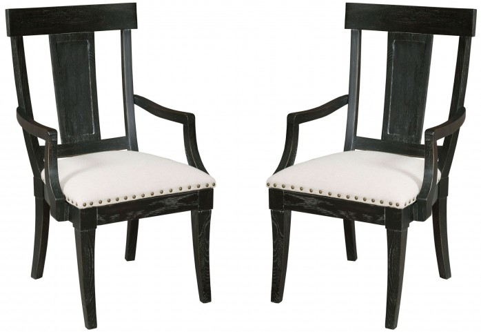 Stone Ridge Black Arm Chair Set of 2