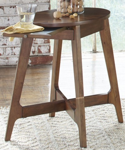 Landon Oval Blonde Chair Side Table