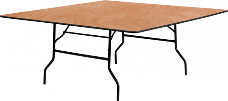 "72"" Square Wood Folding Banquet Table"