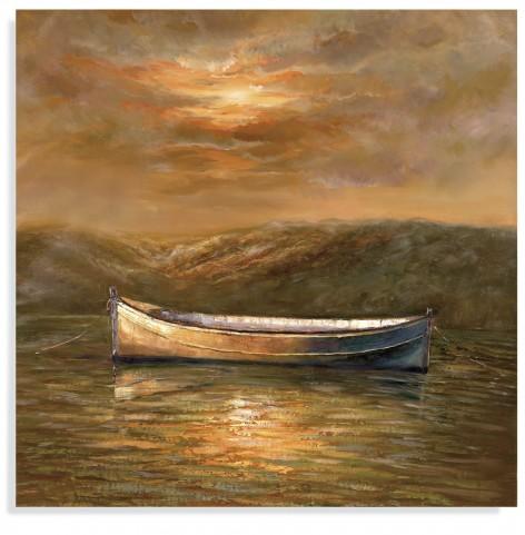 Sunset Canoe Wall Art
