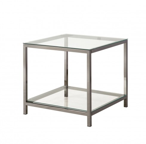 720227 Black Nickel Rectangular End Table