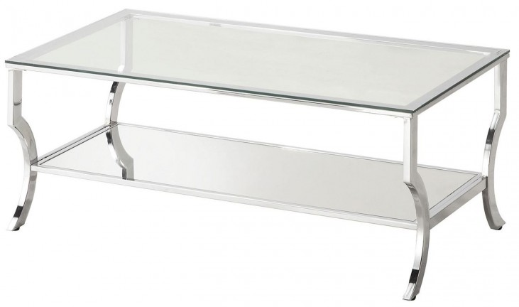 Chrome and Tempered Glass Coffee Table