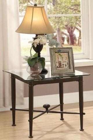 Antique Bronze End Table