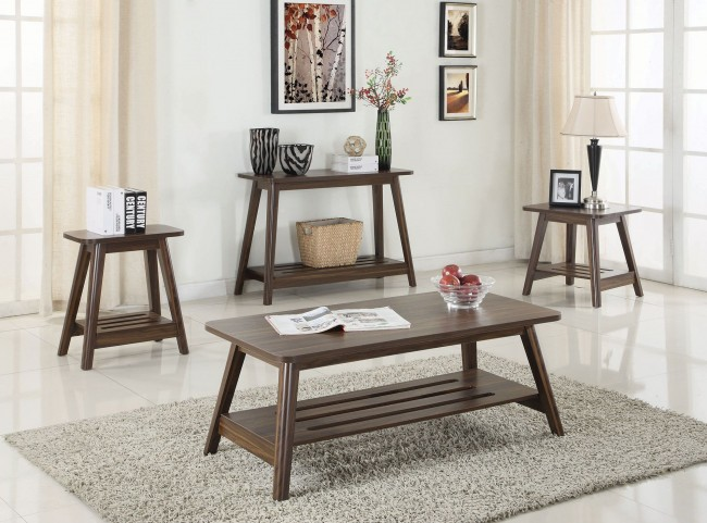 Chestnut Occasional Table Set