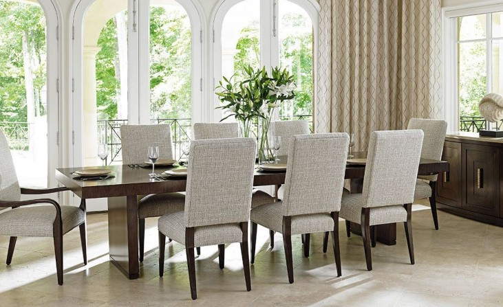 Laurel Canyon San Lorenzo Warm Mocha Extendable Rectangular Dining Room Set
