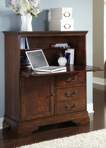 Alexandria Sable and Champagne Computer Cabinet