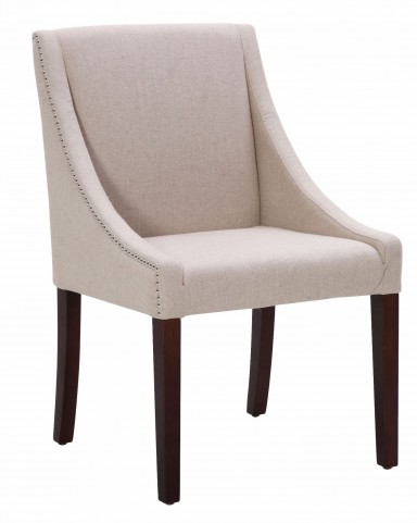 Lucille Linen Fabric Dining Chair