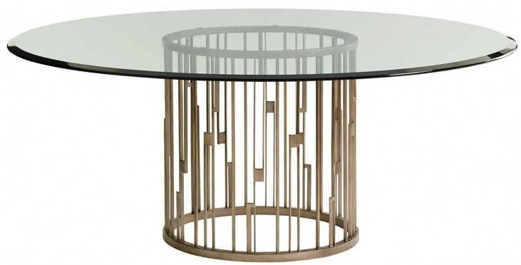 Shadow Play Rendezvous Glass Top Dining Table
