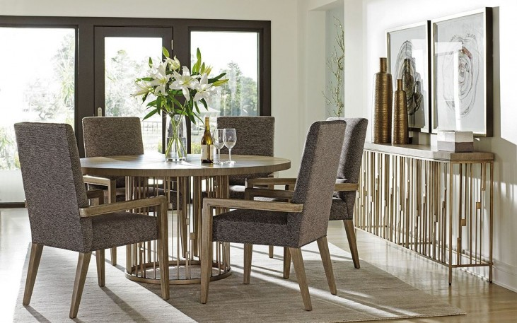 Shadow Play Rendezvous Wood Top Dining Room Set