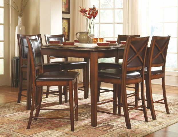 Verona Extendable Counter Height Dining Room Set