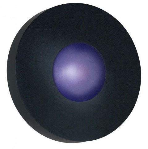 Burst Black Small Round Sconce/Flush