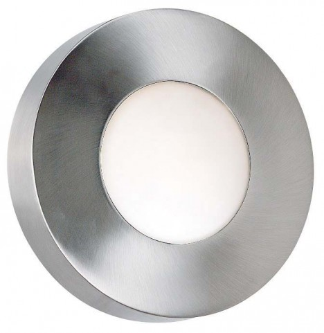 Burst Polished Aluminum Small Round Sconce/Flush