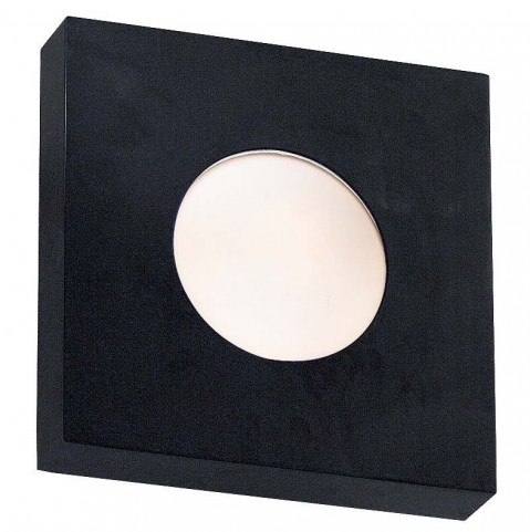 Burst Black Small Square Sconce/Flush