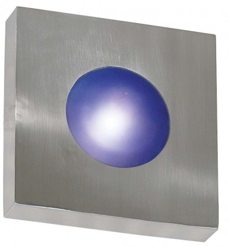 Burst Polished Aluminum Small Square Sconce/Flush