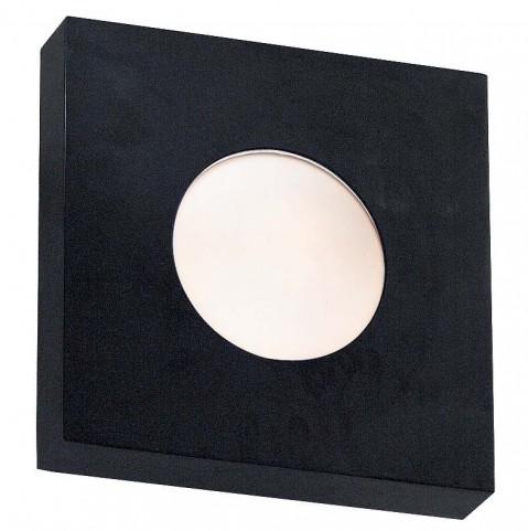 Burst Black Large Square Sconce/Flush