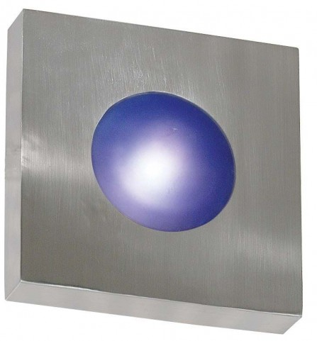Burst Polished Aluminum Large Square Sconce/Flush