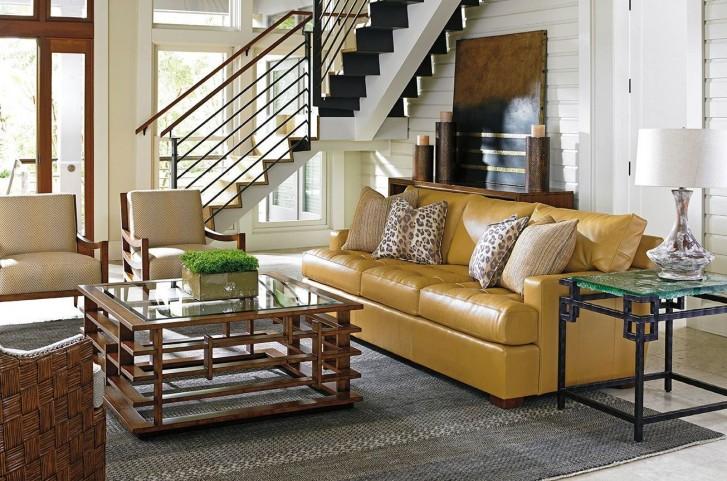 Island Fusion Osaka Leather Living Room Set