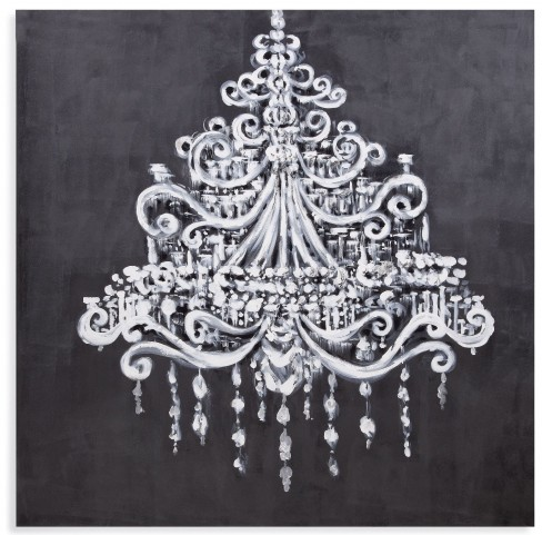 Dramatic Chandelier Wall Art