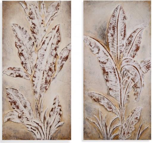 Sculptured Palms Wall Art Set of 2