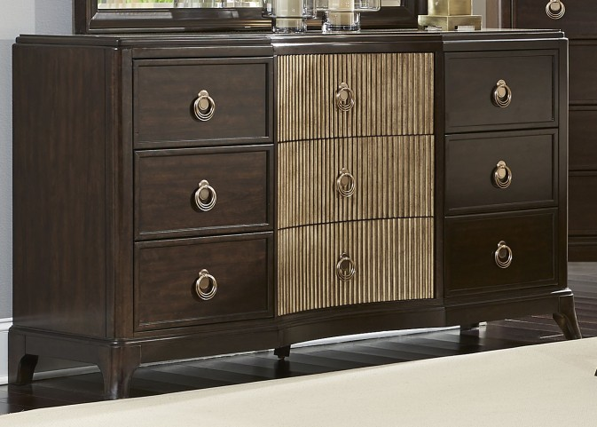 Manhattan Sable and Champagne 9 Drawer Dresser