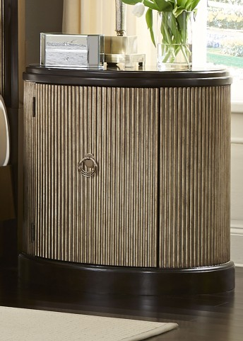 Manhattan Sable and Champagne Demilune Nightstand