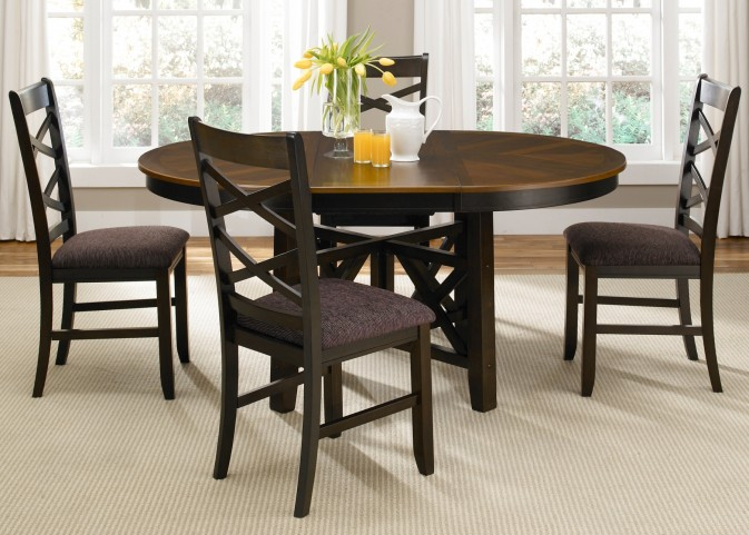 Bistro II Oval Pedestal Dining Room Set