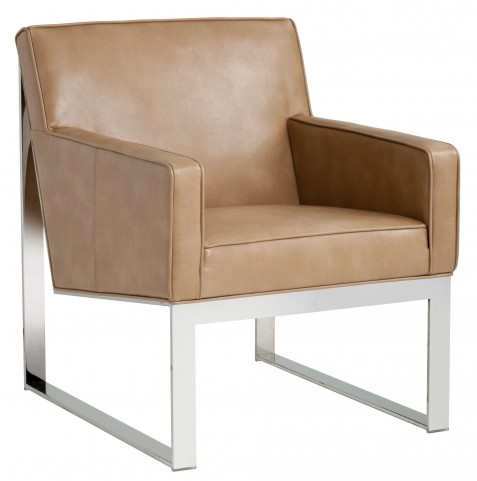 Sheldon Peanut Leather Armchair
