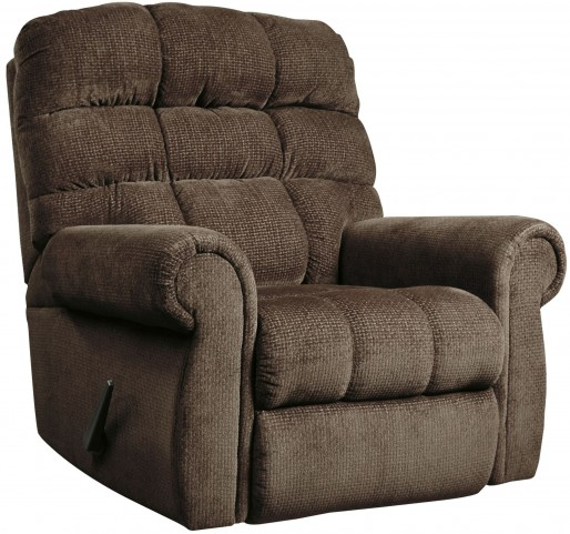 Edger Walnut Rocker Recliner