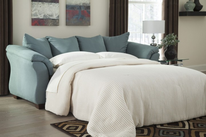 Darcy Sky Full Sofa Chaise Sleeper