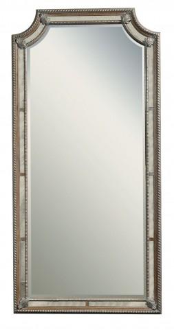Karissa Light Wood Floor Mirror