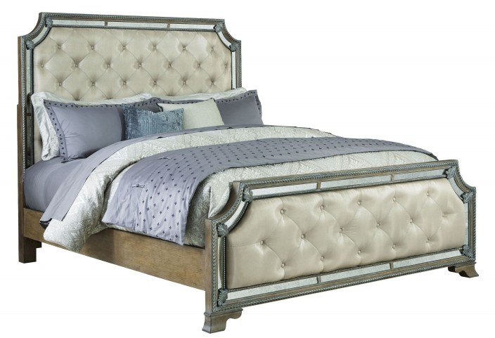 Karissa Light Wood Cal. King Upholstered Panel Bed