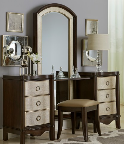 Sunset Boulevard Coffee Bean Vanity Drawer Unit with Mirror