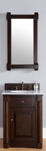 "New Haven 26"" Burnished Mahogany Single 2CM Top Vanity Set"