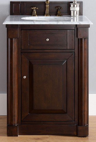 "New Haven 26"" Burnished Mahogany Single 2Cm Top Vanity"