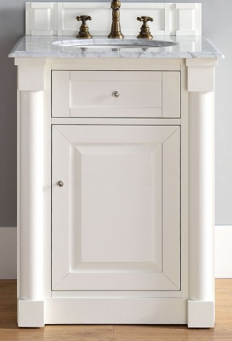 "New Haven 26"" Cottage White Single 2Cm Top Vanity"