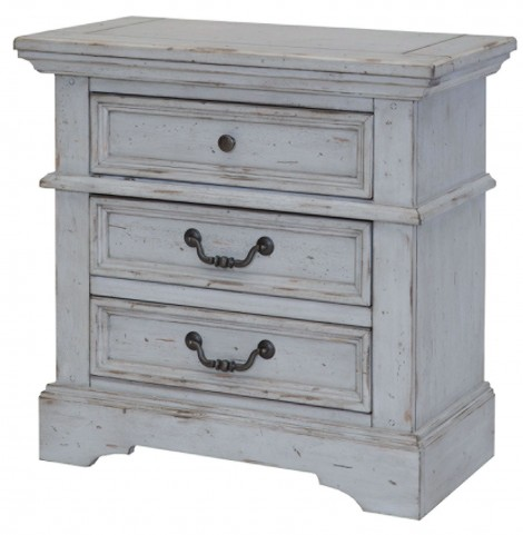 Stonebrook Antique Gray Nightstand