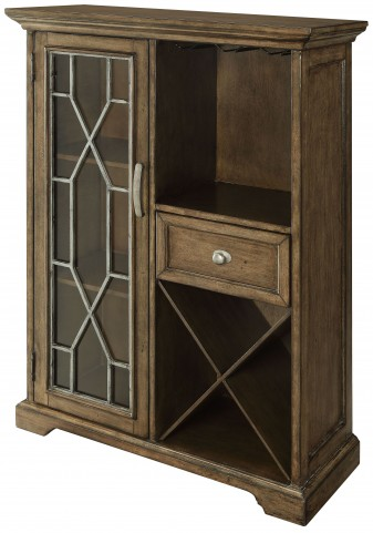 Kire Burnished Parchment One Drawer Bar Cabinet