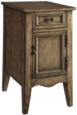 Kire Burnished Parchment One Drawer One Door Cabinet