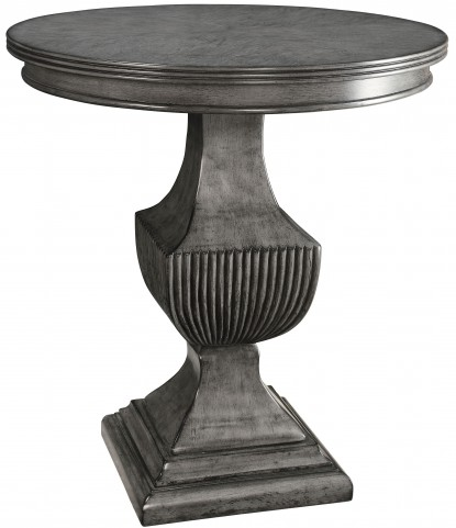Magnet Burnished Grey Round Accent Table
