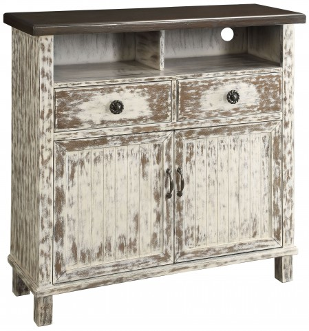 Callie Whitewash 2 Door Media Cabinet